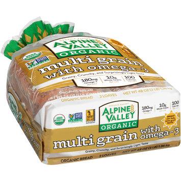 Alpine Valley™ Organic Multi Grain with Omega-3 Bread 2-24 oz. Loaves