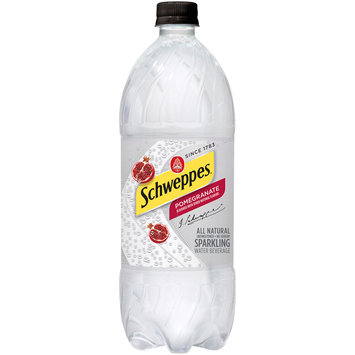 Schweppes Pomegranate Sparkling Water Beverage 33.81 fl. oz. Bottle