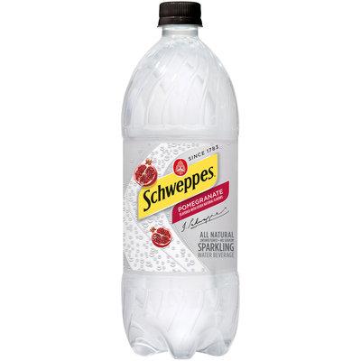Schweppes Pomegranate Sparkling Water Beverage 33.81 fl. oz. Bottle