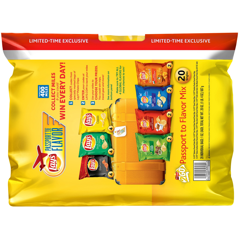 Lay's® Passport To Flavor Variety Pack Potato Chips 20-1 oz. Bags