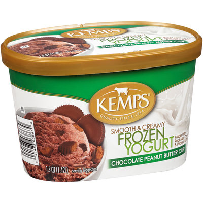 Kemps® Smooth & Creamy Chocolate Peanut Butter Cup Frozen Yogurt 1.5 qt. Tub
