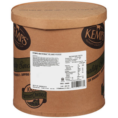 Kemps® Mackinac Island Fudge Ice Cream 3 gal. Tub