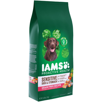 Iams™ ProActive Health™ Sensitive Skin & Stomach with Real Salmon & Lentils Adult Super Premium Dog Food 4.4 lb. Bag