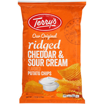 Terry's® Our Original Ridged Cheddar & Sour Cream Flavored Potato Chips 7.75 oz. Bag