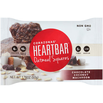 Corazonas® Heartbar™  Chocolate Coconut Macaroon Oatmeal Square Bar 1.76 oz. Wrapper