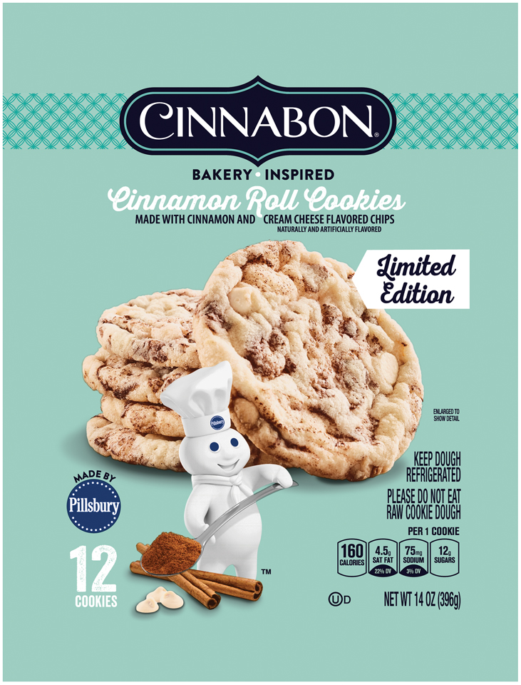 Pillsbury Cinnabon™ Refrigerated Cinnamon Roll Cookies 12ct 14oz Pack