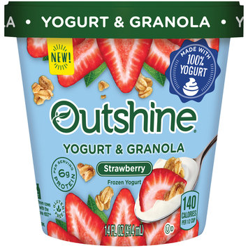 Outshine Yogurt & Granola Strawberry Frozen Yogurt 14 fl. oz. Carton