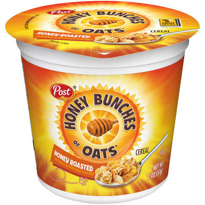 Post® Honey Bunches of Oats® Honey Roasted Cereal 2 oz. Cup