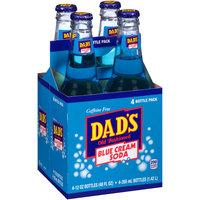 Dad's® Old Fashioned Blue Cream Soda 4-12 fl. oz. Glass Bottles