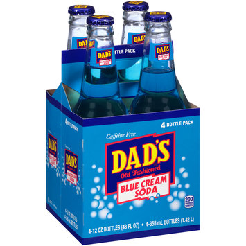 Dad's® Old Fashioned Blue Cream Soda 4-12 fl. oz. Glass Bottles