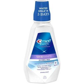 Sparkle Crest 3D White Vivid White Mouthwash, 473 mL