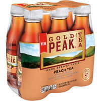 Gold Peak® Tea Peach Tea 6-16.9 fl. oz. Bottles