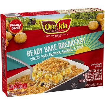 Ore-Ida™ Ready Bake Breakfast Cheesy Hash Browns, Sausage & Eggs 40 oz. Box