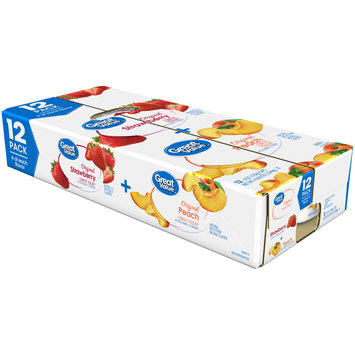 Great Value™ Original Strawberry & Peach Lowfat Yogurt Variety Pack 12-6 oz. Cups