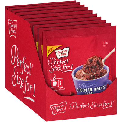 Duncan Hines® Perfect® Size for 1 Decadent Chocolate Lover's® Cake Mix 2.5 oz. Pouch