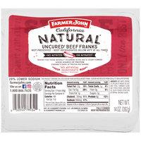 Farmer John™ California Natural Uncured Beef Franks 14 oz. Pack