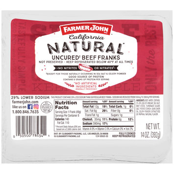 Farmer John™ California Natural Uncured Beef Franks