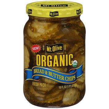 Mt. Olive Organic Bread & Butter Pickle Chips 16 fl. oz. Jar