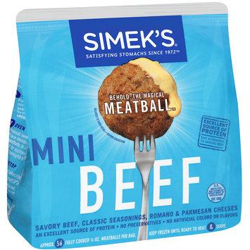 Simek's® Mini Beef Meatballs 14 oz. Bag