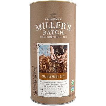 The Quaker Oats Co. Miller's Batch™ Canadian Prairie Oats Organic Thick Cut Rolled Oats 23.5 oz. Bag