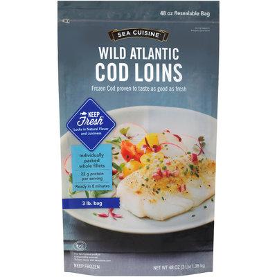Sea Cuisine® Wild Atlantic Cod Loins 48 oz. Bag