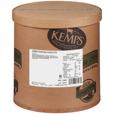 Kemps® Fountain Chocolate Ice Cream 3 gal. Tub