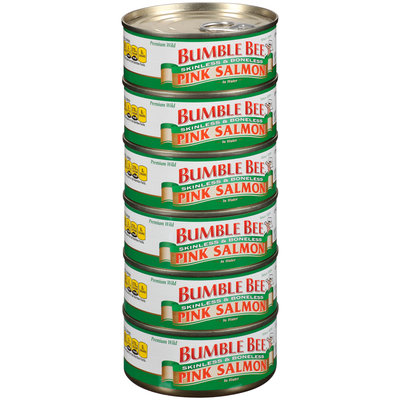 Bumble Bee® Skinless & Boneless Pink Salmon in Water 6-5.29 oz. Cans Cluster Pack
