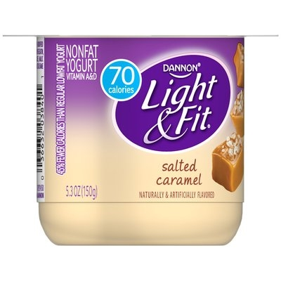 Dannon® Light & Fit® Blended Nonfat Yogurt Salted Caramel 5.3oz Single Serve