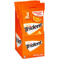 Trident Tropical Twist Sugar Free Gum with Xylitol 10-42 ct Packs