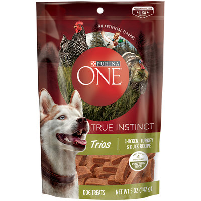 PURINA ONE® True Instinct Trios Chicken Turkey & Duck Recipe Dog Treats