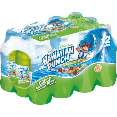 Hawaiian Punch Green Berry Rush, 10 Fl Oz Bottles, 12 Pack