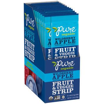 Pure Organic Wildberry Apple Fruit & Veggie Strip 24-0.49 oz. Strips