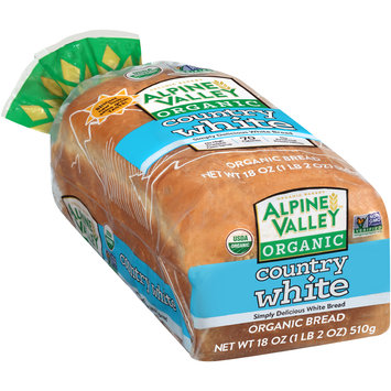 Alpine Valley™ Organic Country White Bread 18 oz. Bag