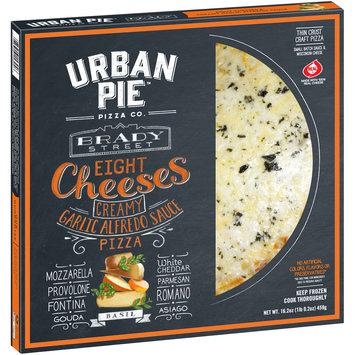 Urban Pie™ Brady Street Eight Cheeses Creamy Garlic Alfredo Sauce Thin Crust Craft Pizza 16.9 oz. Box