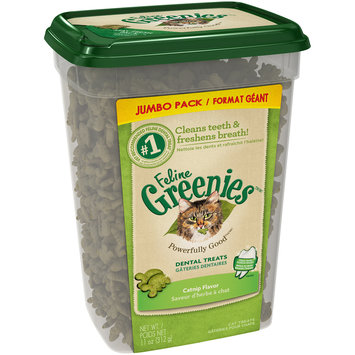 Feline Greenies™/MC Catnip Flavor Cat Dental Treats 11 oz. Tub