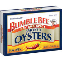 Bumble Bee® Hot and Spicy Smoked Oysters 3.75 oz. Box