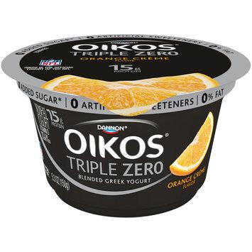 Dannon® Oikos® Triple Zero Blended Greek Nonfat Yogurt Orange Creme 5.3 oz. Cup