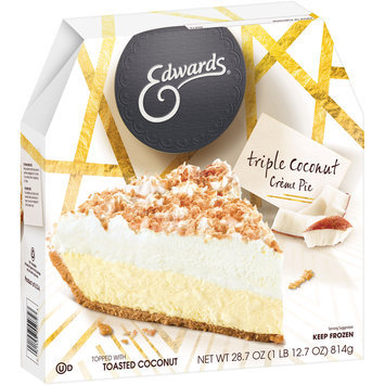 Edwards® Triple Coconut Creme Pie in a Cookie Crust 28.7 oz. Box