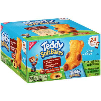 Nabisco Teddy Soft Bakes Chocolate Filling Snacks 24–1.06 oz. Box