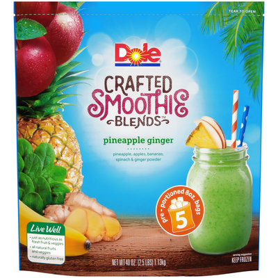 Dole® Pineapple Ginger Crafted Smoothie Blends 5-8 oz. Pouch