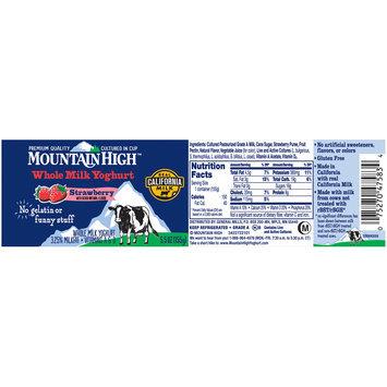 Mountain High™ Strawberry Whole Milk Yoghurt 5.5 oz. Cup