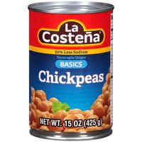 La Costena® 50% Less Sodium Basics Chickpeas 15 oz. Can