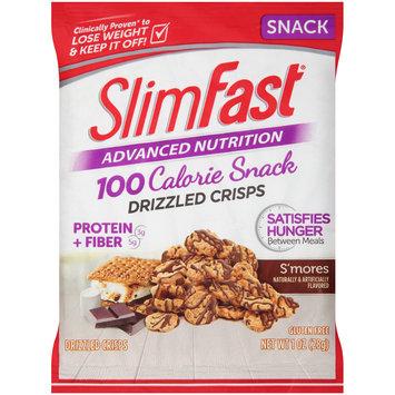 SlimFast® Advanced Nutrition 100 Calorie Snack S'mores Drizzled Crisps 1 oz. Bag