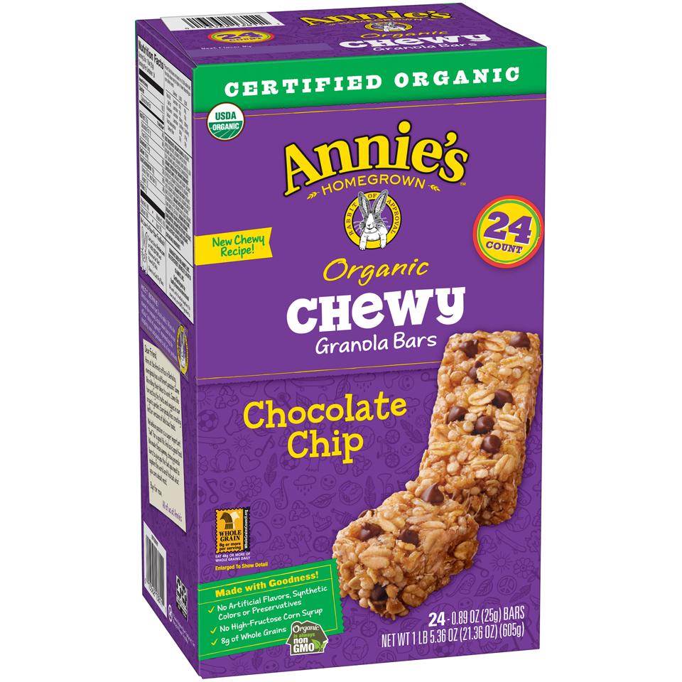 Annie's® Chocolate Chip Organic Chewy Granola Bars