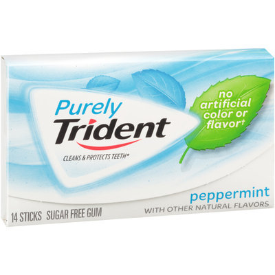 Purely Trident Peppermint Sugar Free Gum 14 ct Pack