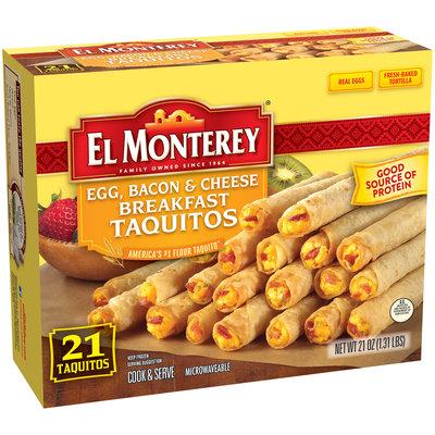 El Monterey® Egg, Bacon & Cheese Breakfast Taquitos 21 oz. Box