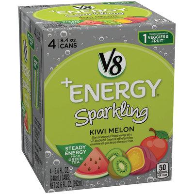 V8 +Energy Sparkling Kiwi Melon, 8.4 oz., 4-pack