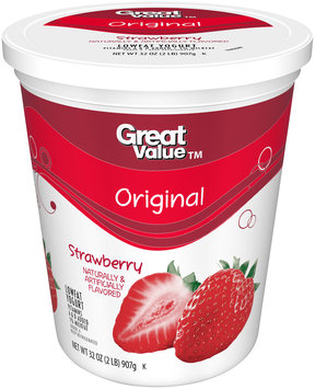 Great Value™ Original Strawberry Flavored Lowfat Yogurt 32 oz. Tub