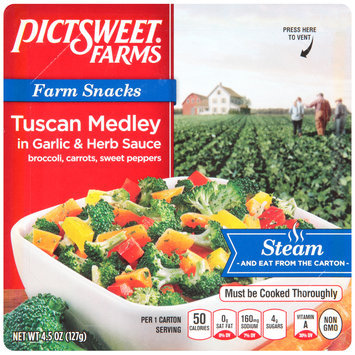 Pictsweet Farms® Farm Snacks Tuscan Medley in Garlic & Herb Sauce 4.5 oz. Carton