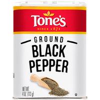 Tone's® Ground Black Pepper 4 oz. Shaker